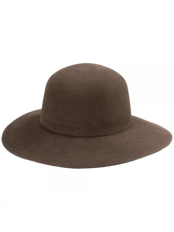 Chapéu Campeiro Feltro Modelo Pança de Burro - Tabaco