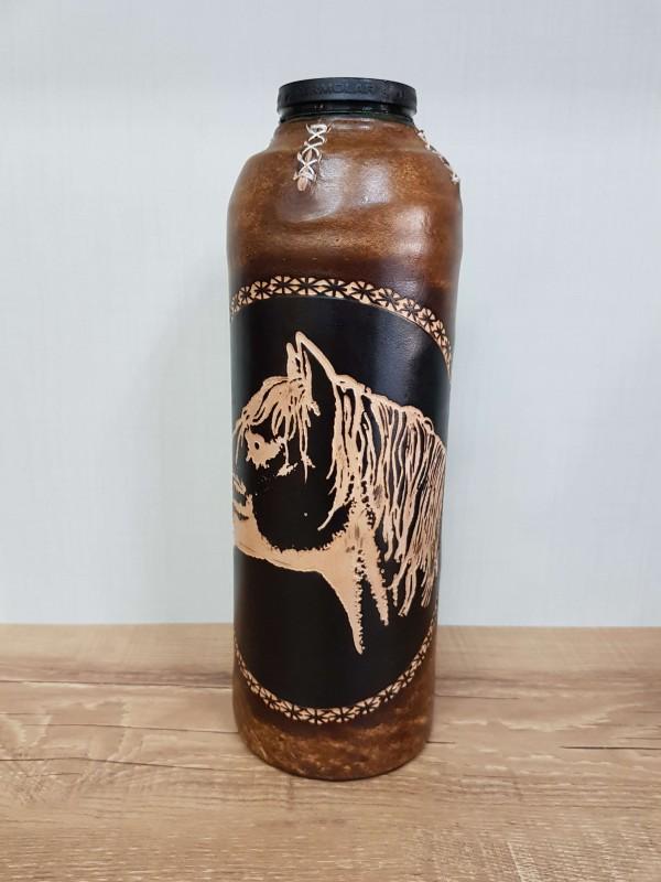 Garrafa Térmica Chimarrita 1,0 L Revestida Couro Cavalo