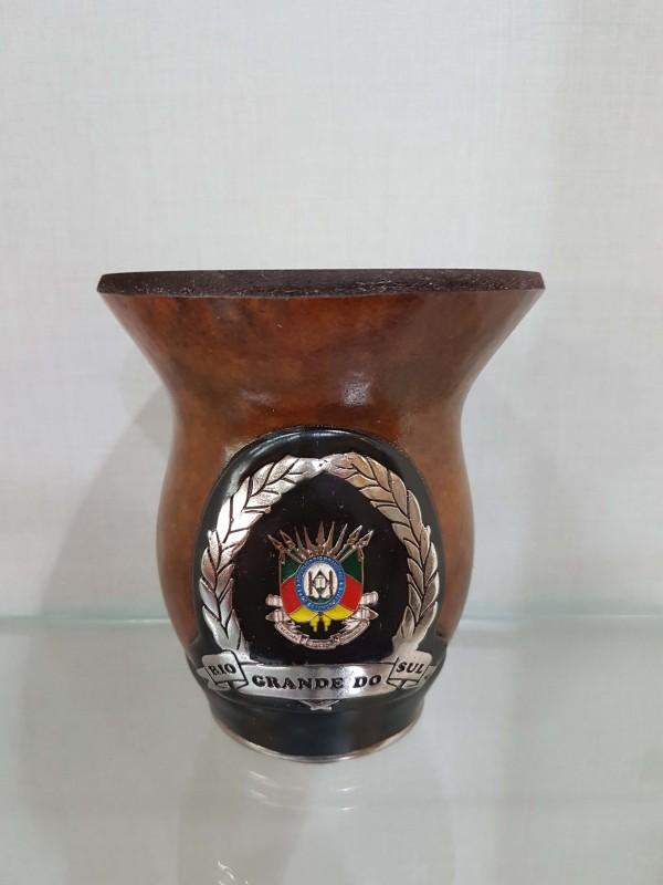 Cuia Medalha Brasão