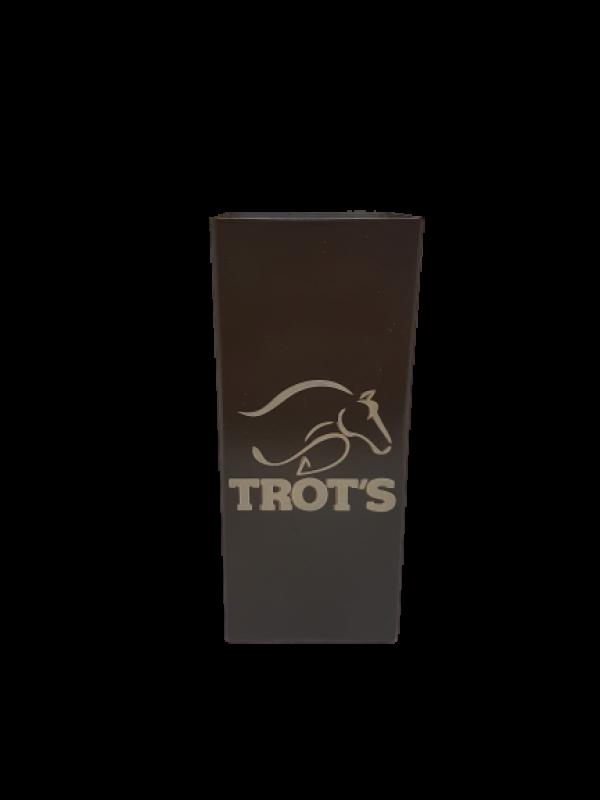 Copo Inox Tereré Quadrado Marrom - Trot's