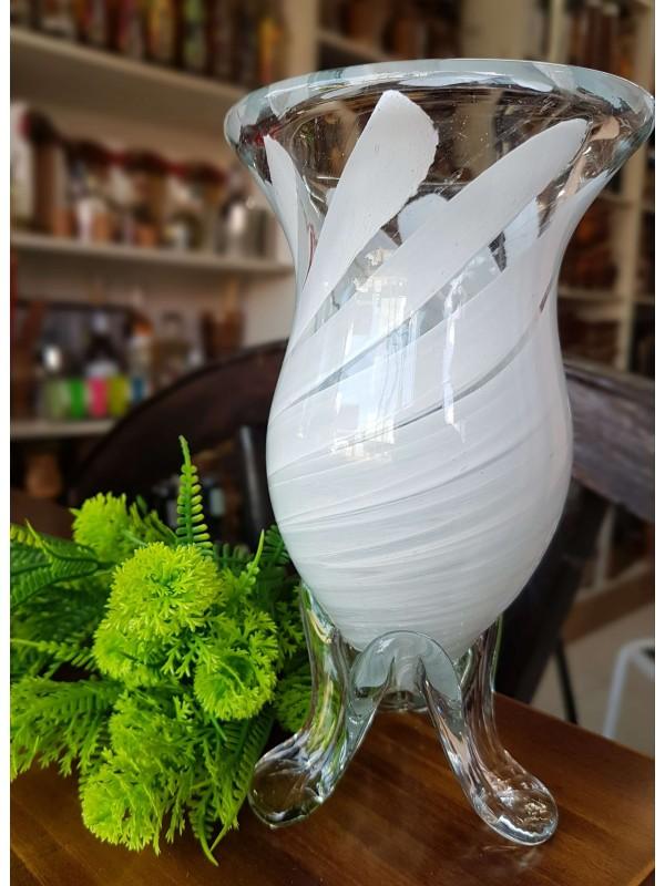 Cuia De Vidro Em Cristal Murano - Branca