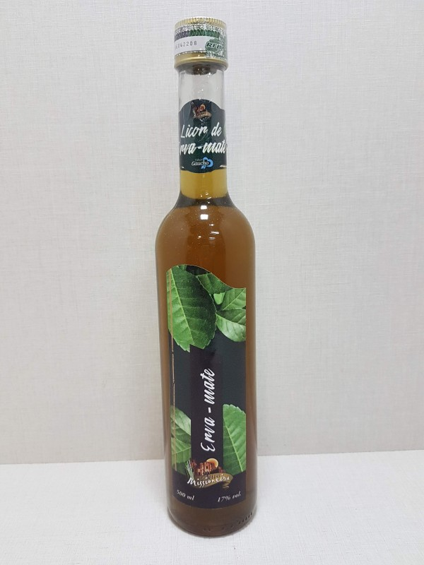 Licor de Cachaça Sabor Erva Mate - 500ml
