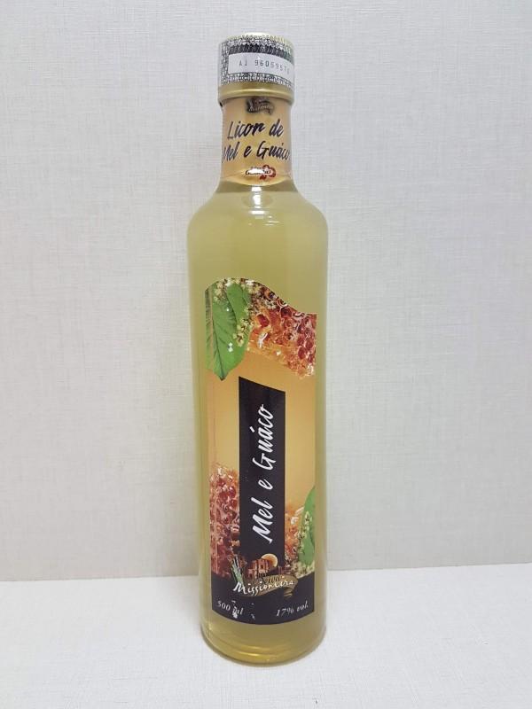 Licor de Cachaça Sabor Mel e Guaco - 500ml
